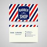 Diseño de la plantilla de la tarjeta de visita para la peluquería de caballeros Imagen de archivo libre de regalías