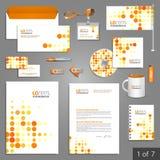 Diseño de la plantilla de los efectos de escritorio Fotos de archivo