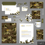Diseño de la plantilla de los efectos de escritorio Imágenes de archivo libres de regalías