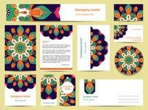 Diseño de la plantilla de los efectos de escritorio con las mandalas verdes Imagenes de archivo