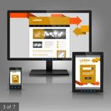 Diseño de la plantilla de los usos Fotos de archivo
