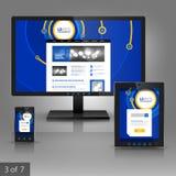 Diseño de la plantilla de los usos Fotos de archivo libres de regalías