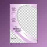 Diseño de la plantilla del aviador foto de archivo libre de regalías