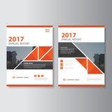 Diseño de la plantilla del aviador del folleto del prospecto del informe anual del vector del triángulo, diseño de la disposición ilustración del vector