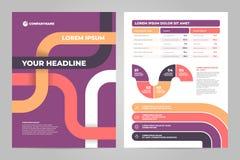Diseño de la plantilla del aviador del negocio con infographic libre illustration