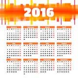 Diseño 2016 de la plantilla del calendario con la imagen del jefe Imagenes de archivo