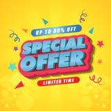 Diseño de la plantilla del cartel del tiempo limitado de la oferta especial imagen de archivo libre de regalías