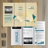Diseño de la plantilla del folleto Fotografía de archivo