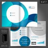 Diseño de la plantilla del folleto Imagen de archivo