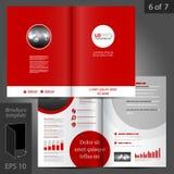 Diseño de la plantilla del folleto Imágenes de archivo libres de regalías