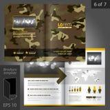 Diseño de la plantilla del folleto Foto de archivo libre de regalías