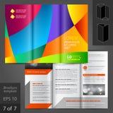 Diseño de la plantilla del folleto Fotografía de archivo libre de regalías
