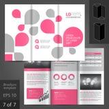 Diseño de la plantilla del folleto Fotos de archivo libres de regalías