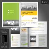 Diseño de la plantilla del folleto Imagenes de archivo