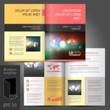 Diseño de la plantilla del folleto Fotos de archivo