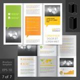 Diseño de la plantilla del folleto Imagen de archivo libre de regalías