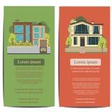 Diseño de la plantilla del folleto Concepto de ejemplo del vector de la arquitectura Foto de archivo libre de regalías