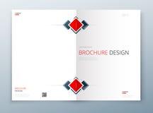 Diseño de la plantilla del folleto de la cubierta Azul marino Informe anual del negocio corporativo, catálogo, revista, maqueta d Foto de archivo