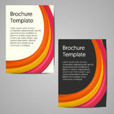 Diseño de la plantilla del folleto del negocio Fotos de archivo