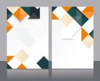 Diseño de la plantilla del folleto del vector Fotografía de archivo libre de regalías