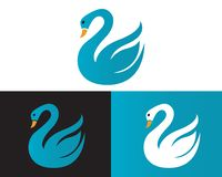 Diseño de la plantilla del logotipo del cisne stock de ilustración