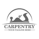 Diseño de la plantilla del logotipo de la carpintería Imagen de archivo