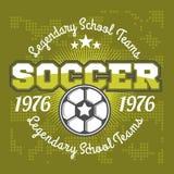 Diseño de la plantilla del logotipo de la insignia del fútbol, equipo de fútbol stock de ilustración