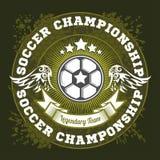 Diseño de la plantilla del logotipo de la insignia del fútbol, equipo de fútbol libre illustration