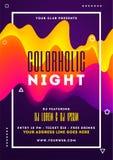 Diseño de la plantilla del partido de la noche de Colorholic con los extractos flúidos del arte libre illustration