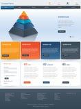 Diseño de la plantilla del sitio web stock de ilustración
