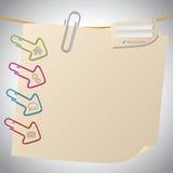 Diseño de la plantilla del sitio web del post-it Imagen de archivo libre de regalías
