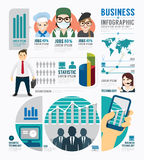 Diseño de la plantilla del trabajo del negocio de Infographic vector del concepto Imagen de archivo
