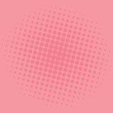 Diseño de la plantilla del vector de Art Salmon Pink Dots Comic Background del estallido Imágenes de archivo libres de regalías