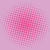 Diseño de la plantilla del vector del fondo de Art Lavender Pink Dots Comic del estallido Fotografía de archivo libre de regalías