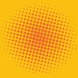 Diseño de la plantilla del vector del fondo de Art Yellow Orange Dots Comic del estallido Fotografía de archivo