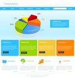 Diseño de la plantilla del Web site stock de ilustración