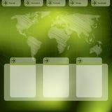 Diseño de la plantilla del Web site en verde libre illustration