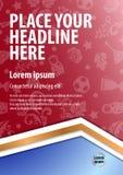 Diseño de la plantilla de la disposición del cartel para el acontecimiento deportivo libre illustration