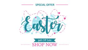 Diseño de la plantilla de la oferta especial de Pascua para la promoción libre illustration