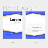 Diseño de la plantilla para el negocio y corporativo modernos stock de ilustración