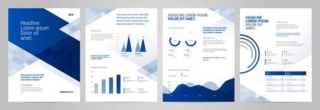Diseño de la plantilla de la presentación con infographic stock de ilustración