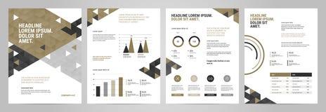 Diseño de la plantilla de la presentación con infographic ilustración del vector