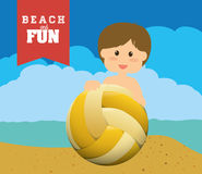 Diseño de la playa Fotografía de archivo libre de regalías