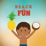 Diseño de la playa Foto de archivo libre de regalías