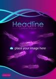 Diseño de la portada de revista en A4 Libro Vector Fotografía de archivo