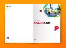 Diseño de la portada de revista Folleto del negocio corporativo, informe anual, catálogo, concepto de la disposición de la planti ilustración del vector