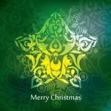 Diseño de la postal de la Navidad del vector Fotos de archivo libres de regalías