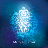 Diseño de la postal de la Navidad del vector Foto de archivo