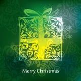 Diseño de la postal de la Navidad del vector Fotografía de archivo libre de regalías