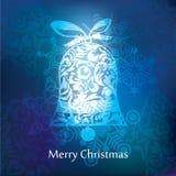 Diseño de la postal de la Navidad del vector Fotografía de archivo